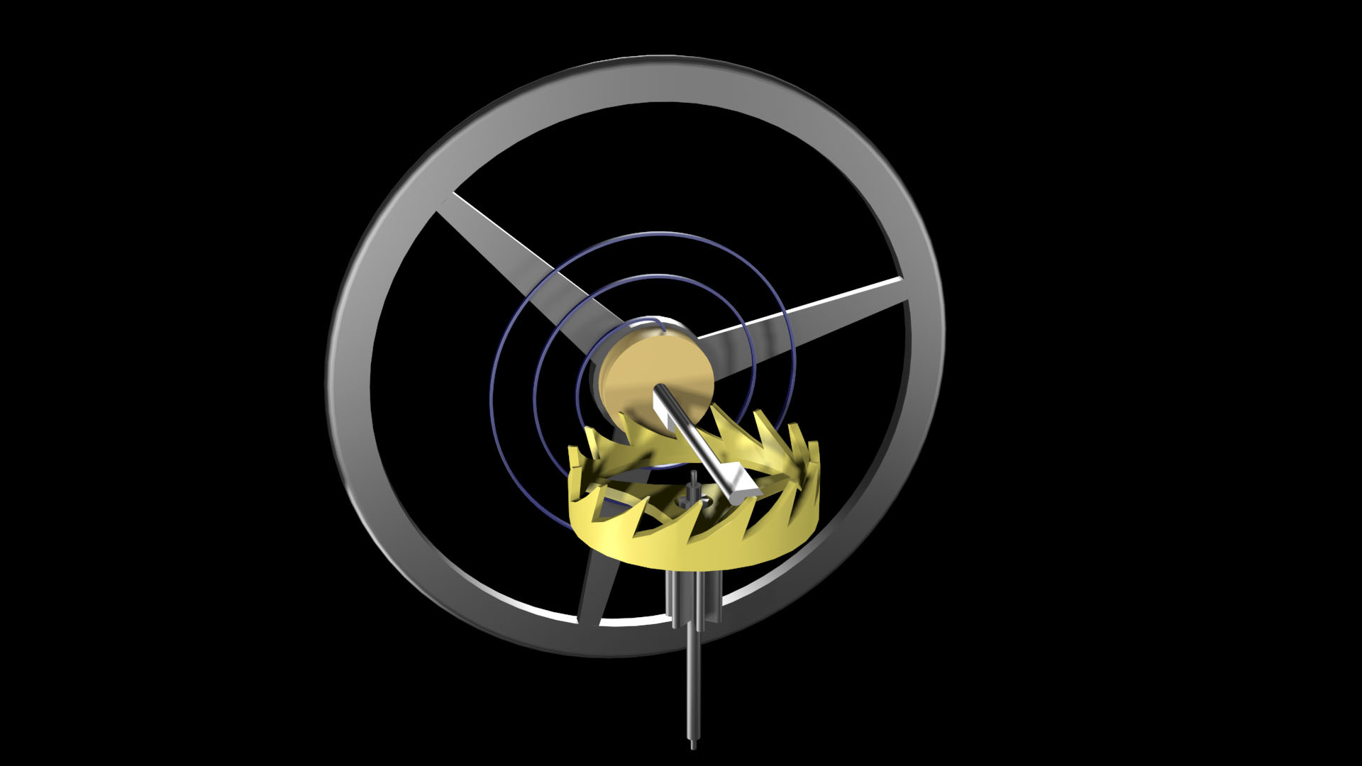 1992:  The first animation of a watch escapement
